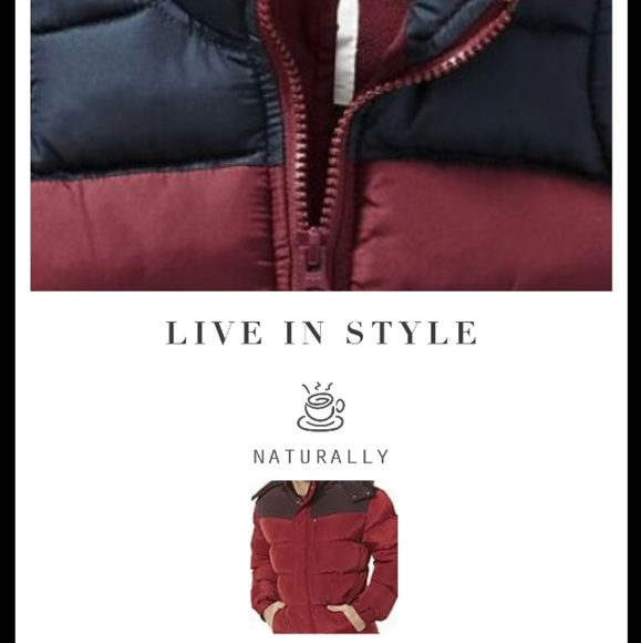 cf6398469 Old Navy Jackets & Coats | Red And Black Colorblock Bubble Jacket ...